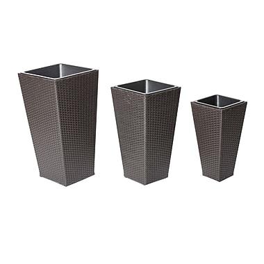 Pangea Home 3-Piece Aluminum Pot Planter Set