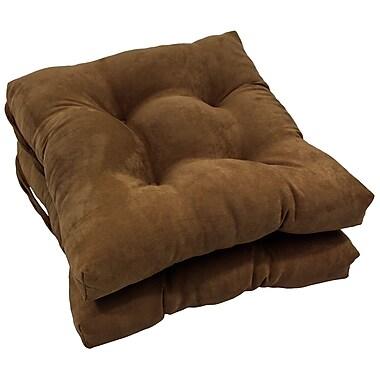 Blazing Needles Dining Chair Cushion (Set of 2); Chocolate