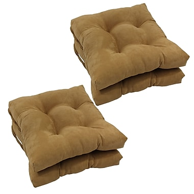 Blazing Needles Outdoor Dining Chair Cushion (Set of 4); Camel