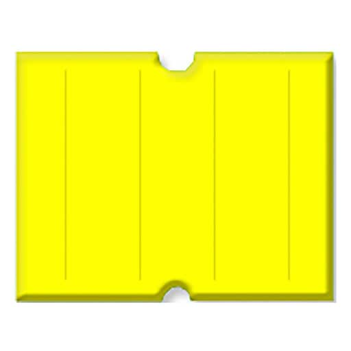 Garvey® Punch Hole Blank Label, Yellow, 17mm x 21mm, 6000 Labels/Sleeve (2117-31810)
