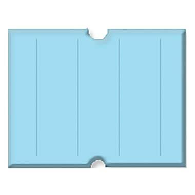 Garvey® 17 mm x 21 mm Punch Hole Blank Label, Blue, 6000 Labels/Sleeve (G2117 )