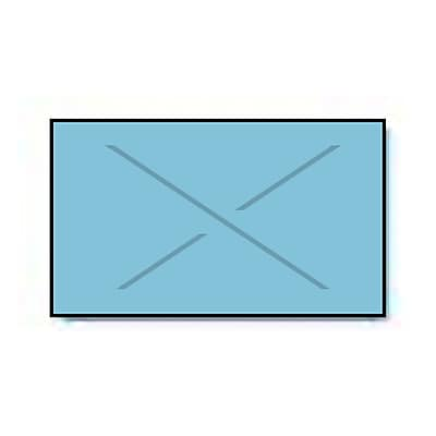 Garvey® Blank Label, Blue, 12mm x 22mm, 11,000 Labels/Sleeve (2212-04520)