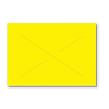 Garvey® 16 mm x 22 mm Blank Label, Yellow, 9000 Labels/Sleeve (GX2216)