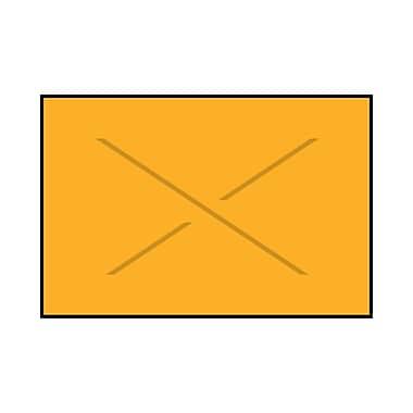 Garvey® 16 mm x 25 mm Blank Label, Fluorescent Orange, 8000 Labels/Sleeve (GX2516)