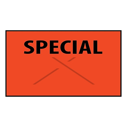 "Garvey® ""SPECIAL"" Printed Label, Red/Black, 16 mm x 25 mm, 8000 Labels/Sleeve (GT2516)"