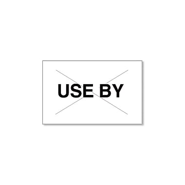 Garvey® 16 mm x 25 mm USE BY Printed Label, White/Black, 8000 Labels/Sleeve (GX2516)