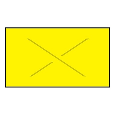Garvey® Blank Label, Yellow, 19 mm x 37 mm, 4000 Labels/Sleeve (GX3719)