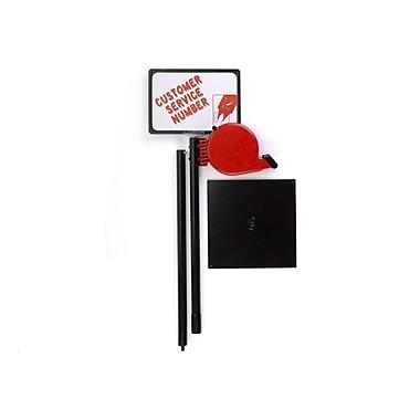 Garvey® My Turn Display Stand, Black/Red (TAGS-10001)