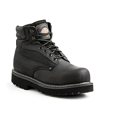 DICKIES Breaker Steel-Toe EH Work Boot, 9, Black