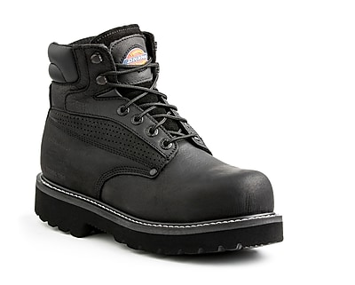 DICKIES Breaker Steel-Toe EH Work Boot, 8, Black
