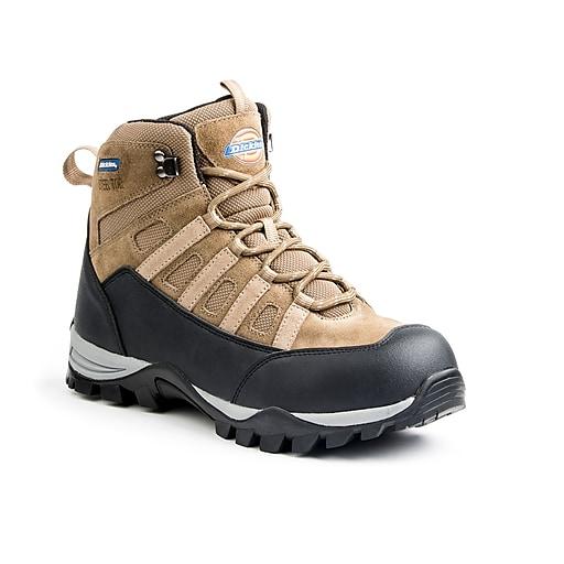 DICKIES Escape Men's Steel-Toe Work Shoes, 14, Brown