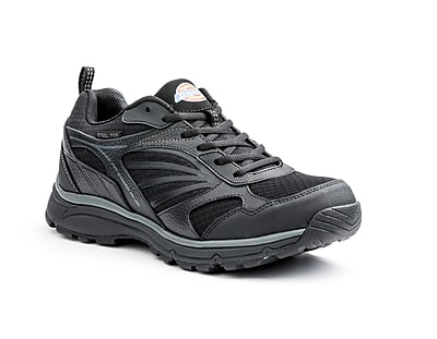 DICKIES Stride Men's Steel-Toe Walking Shoes, 10, Black