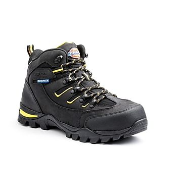 DICKIES Sierra Steel-Toe EH Work Shoe, 7, Black