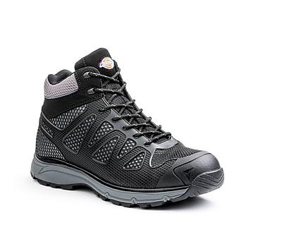 DICKIES Fury EXO-LITE Men's Mid-Top Steel-Toe Work Shoes, 9, Black