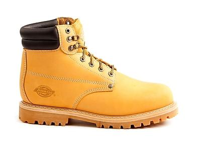 DICKIES Men's Raider Steel-Toe Work Boots, 9, Wheat