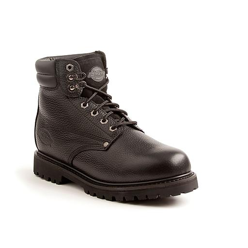 DICKIES Raider Steel-Toe EH Work Boot, 8, Black