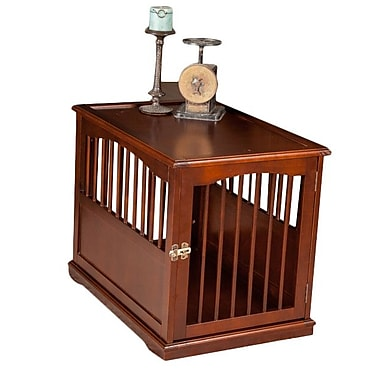Primetime Petz Pet Crate End Table in Walnut; Medium (24'' H x 21'' W x 30'' L)