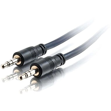 C2G 15Ft Plenum-Rated 3.5Mm Stereoaudio Cable W/Lp Connectors (40515)