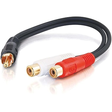 C2G 6In Value Series Rca Mono To2Xrca Stereo M/F Y-Cable (3177)