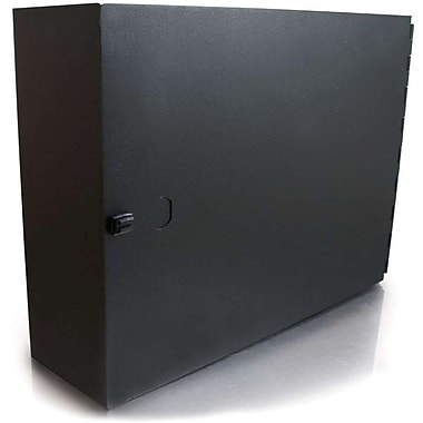 C2G Q Series 39106 2Panel Wallmount Box Rack Cabinet, Black, (39106)