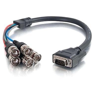 C2G – Câble vidéo Premium HD15 à RGBHV 5 BNC, mâle/mâle, 1,5 pi (02572)