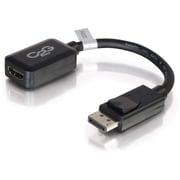 C2G – Adaptateur convertisseur DisplayPort mâle vers HDMI femelle, 8 po, noir (54322)