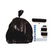 Unisan Heritage Bag Coreless Roll of High-Density Extra-Heavy Waste Can Liners Black 40-45gal