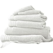 Amrapur Casablanca Jacquard 6 Piece Towel Set; White
