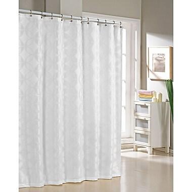 DR International Bayonne Jacquard Shower Curtain; White