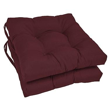 Blazing Needles Dining Chair Cushion (Set of 2); Burgundy