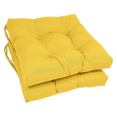Blazing Needles Dining Chair Cushion (Set of 2); Sunset