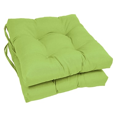 Blazing Needles Dining Chair Cushion (Set of 2); Mojito Lime