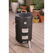 Meco 2 in 1 Charcoal Combo Water Smoker & Lock 'N Go Grill