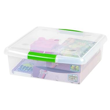 IRIS® 25 Quart Store & Slide Square Box, Clear, 6 Pack (170255)