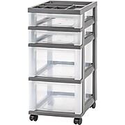 IRIS® 41 Quart Weathertight Plastic Storage Box, 4/Pack (110500)