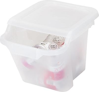 IRIS® 18.4 Quart Recycle Storage Bins, Clear, 6 Pack (172021)