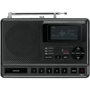 Sangean CL-100 Table-Top Weather Hazard Alert Alarm Clock Radio, Black, 6 VDC 400 mA, 87.5 - 108 MHz FM