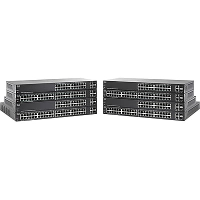 Cisco ™ SG220-50P-K9-NA 48 Port Gigabit Ethernet Desktop/Rack-Mountable Managed PoE+ Switch, Black