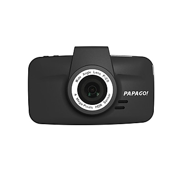 PAPAGO! GS520-US WHD Dash Camera with LCD, Black