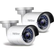 TRENDNet - Caméra réseau HD PoE IR, 1,3 MP, pour l'extérieur, paquet double, blanc