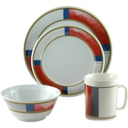 Galleyware  Company Decorated Life Preserver Melamine 16 Piece Dinnerware Set, Service for 4