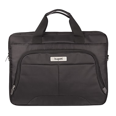 Bugatti Nylon Executive Briefcase, Black