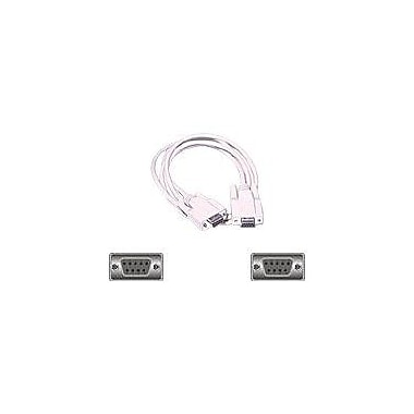 C2G® 03044 6' DB9 to DB9 Female/Female Null Modem Cable, Beige