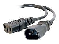C2G ® 2' IEC320C14/IEC320C13 Male/Female Computer Power Extension Cord, Black (3142)
