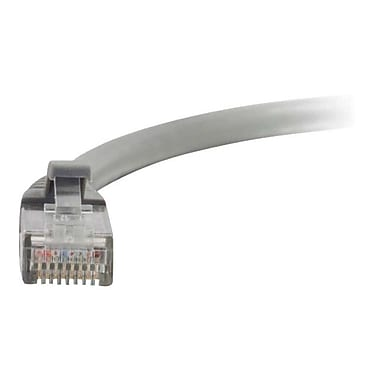 C2G® 15199 10' RJ-45 Male to Male CAT5e Snagless Patch Cable, Gray
