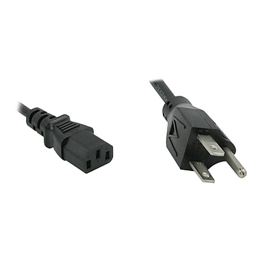 C2G ® 1' NEMA 5-15P/IEC320C13 Male/Female Universal Power Cord, Black (24240)