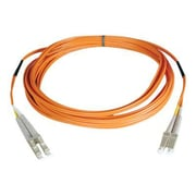 Tripp Lite N520-25M 25m LC/LC Male/Male 50/125 OM2 Duplex Multimode Fiber Optic Patch Cable, Orange