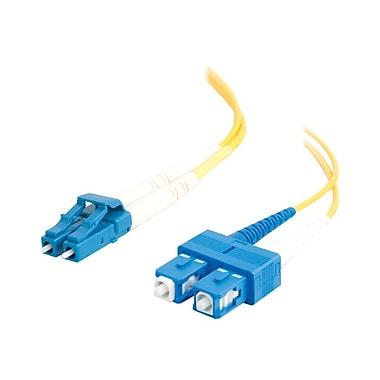 C2G ® 29920 3 m LC/SC Male/Male 9/125 OS1 Duplex Singlemode Fiber Optic Cable, Yellow