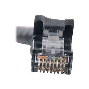 C2G 27152 7' Black RJ-45 Male/Male Cat6 Snagless Unshielded Network Patch Cable for Network Adapters/Hubs