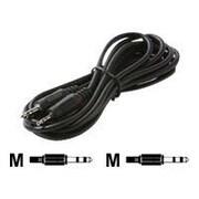 STEREN® 252-684 6' 3.5mm Mini-Phone to 2.5mm Sub-Mini-Phone Male/Male Audio Patch Cord, Black